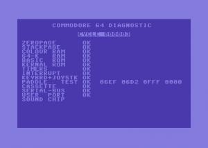COMMODORE 64  DIAGNOSTIC   cartridge  4.1.0
